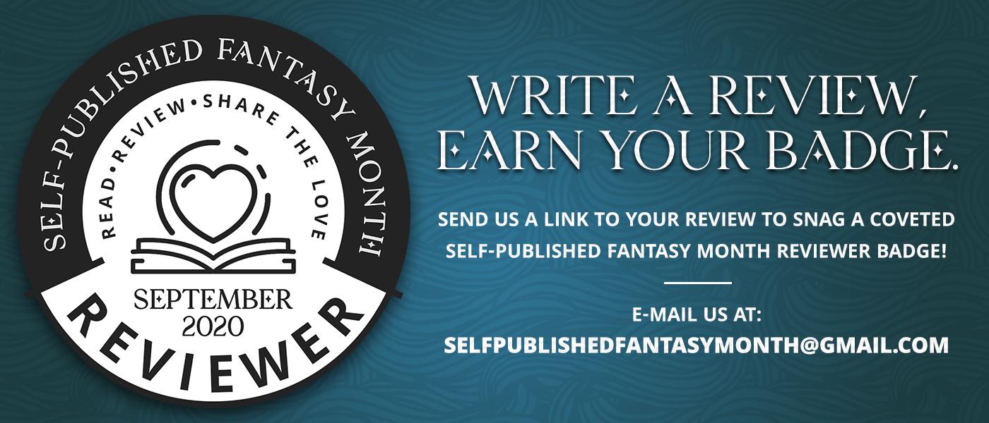 Self-Published Fantasy Month Reviewer Badge